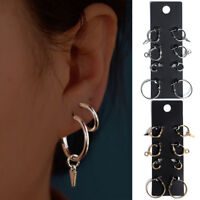 4Pairs/Set Round Earrings Drop Dangle Hoop Ear Studs Earrings Women Jewelry