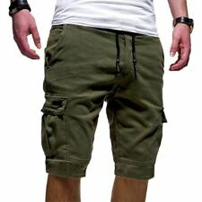 Mens Cargo Shorts Pants Summer Jogger Sport Army Combat Trousers Capri Sweatpant