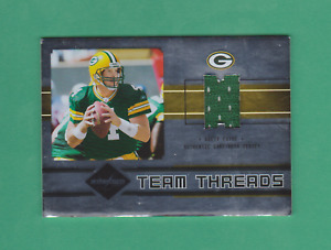 2004 Leaf Limited Team Threads Brett Favre Sterling Sharpe #TT-10 Dual Jersey