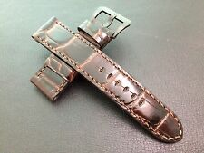 NEW! Alligator Skin pattern Real Leather Watch Strap for Luxury Watches 24/22mm