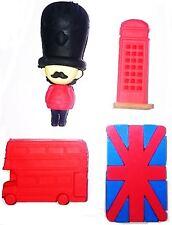 4pcs Rubber Eraser Set Souvenirs London Design School Kids Gift Party Stationary