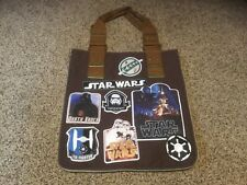New Disney Tote Bag - Star Wars Patches Canvas Bag. Zippered sides to expand.