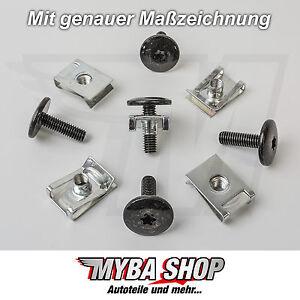 10x Set Torx Screw + Metal Clip Mount for Audi VW Seat Skoda Peugeot