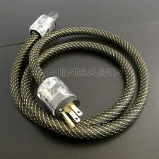 JAPAN Gold Plated Audiophile Hi-end OFC US Plug Main Power Cord Cable Amplifier