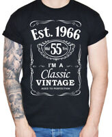 Dirty Fingers Men's 55th Birthday T-Shirt Est 1966 Vintage Fifty Fifth 55 years