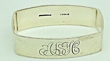Birks Sterling Silver Napkin Ring Holder ALH HLA LHA LAH Monogram Initial