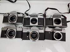 JOBLOT of Vintage 35mm Film SLR Cameras BODY ONLY - Praktica & Zenit-E