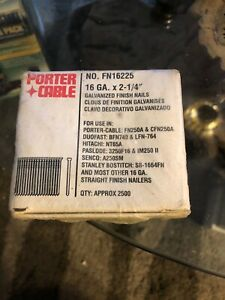 "Porter-Cable FN16225 Porter cable 16 gauge x 2-1/2"" galvanized 2500 Count Box"