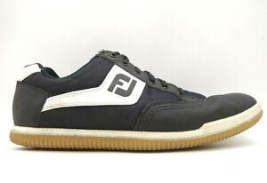 Foot Joy FJ Black Leather Mesh Lace Up Spikeless Golf Sneakers Shoes Men's 12 M