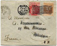 1915 Pro Croce Rossa Sass. 102 + 105 su busta dest. Francia! € 285 RARA