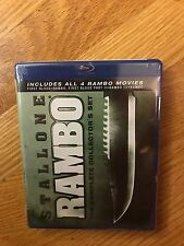 Rambo: The Complete Collectors Set (Blu-ray Disc, 2010, 4-Disc Set), brand new