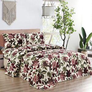3 Pieces Garden Themed 1 Comforter Set  - Queen King