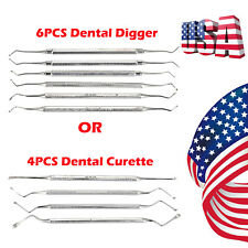 4PCS/6PCS-Dental-Sinus-Elevators-Tooth-Curette-Periosteal-Oral-Cleaning-Tools