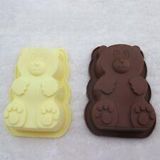 Mini 3D Cartoon Bear Cake Pan Silicone Baking Mold Chocolate Candy Tray Mould