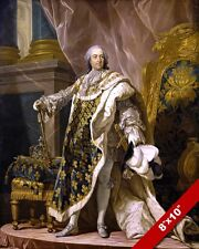 KING LOUIS XV OF FRANCE PORTRAIT PAINTING FRENCH HISTORY ART REAL CANVAS PRINT