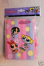 NEW  POWERPUFF GIRLS DIARY BLOSSOM, BUTTERCUP, BUBBLES  PINK STRIPES