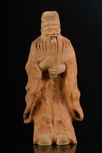 L583: Japanese Wooden Person-shaped STATUE sculpture Doll Buddhist art