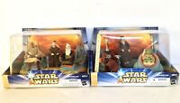 Star Wars Hasbro Jedi High Council Action Figures Scenes 1 & 2 Complete Set NIB