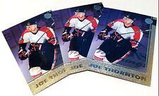 JOE THORNTON 1997-98 Scoreboard GOLD Lot of ( 3 ) ROOKIE Cards #41 SP HTF RARE!