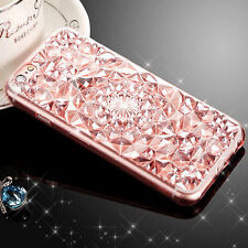 Bling Glitter Crystal Rubber Soft Silicone Case For Apple iPhone 7 Plus Pink