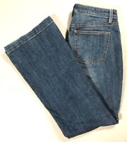 TALBOTS Womens Flawless Five Pocket Classic Rise FLARE Jeans Medium Wash Size 8R
