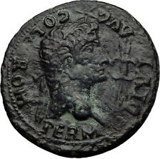 Divus AUGUSTUS  & LIVIA 14AD Hispalis Romula Spain BIG Ancient Roman Coin i60702