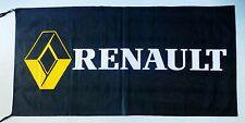 RENAULT FLAG BLACK - SIZE 150x75cm (5x2.5 ft) - BRAND NEW