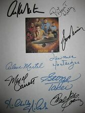 Star Trek Signed TV Script X9 Leonard Nimoy William Shatner George Takei reprint