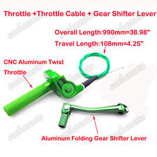 Green Throttle Cable Gear Shift Lever 90 110 125 150 160 cc Dirt Bike Apollo BSE