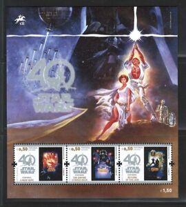 Portugal  Stamps | 2017 | Starwars Minisheet | #4878-4880 MNH