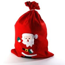 LARGE RED SANTA SACK CLASSIC DESIGN CHRISTMAS STOCKING GIFT BAG JUTE CHILDRENS