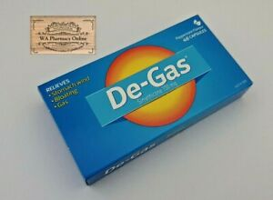 DE-GAS 48 CAPSULES RELIEVES STOMACH WIND BLOATING GAS FLATULENCE