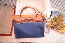 Hermes Herbag zip 31 PM Azur blue