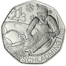 Österreich 5 Euro Silber FIS Alpine Ski WM in Schladming 2013 Hgh im Folder