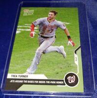 TREA TURNER MLB TOPPS NOW 206 INSIDE THE PARK HR 9.3 IN HAND ONLY 394 09/03/2020