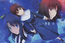poster promo Kara no Kyoukai Kyokai Anohana anime Ryougi Shiki Honma Meiko Menma