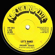 "GREGORY ISAACS-lets dance    nationwide 7""    (hear)  reggae roots"
