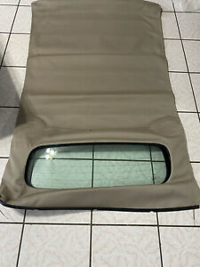1WC1-2KT3AA 2012 FIAT 500 Tan Convertable Folding Top Roof Rear Glass