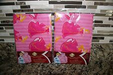 2 Disney Princess Aurora Pink Santa Sack Large Gift Bag 36 in x 44 in- NEW