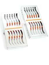 2 German Dental Autoclave Sterilization Cassette Rack Box Tray For 7 Instrument