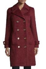 Michael Kors Women's Alpaca Coat Merlot Red Size 2 NWT $495