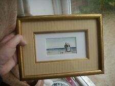 Vintage French Watercolour Painting Betagne by Jean Yves Piclet St Malo Framed
