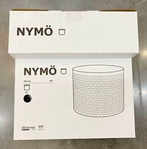 "Ikea NYMÖ NYMO Large (Floor, Pendant) Lamp Shade Perforated Black / Brass 17"""