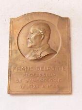 Medaille Bronze Frans delporte Professor Gynäkologie 1928 1946 Belgien