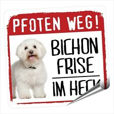 Auto Aufkleber REFLECTIVE BICHON FRISE PFOTEN WEG Hunde BY SIVIWONDER