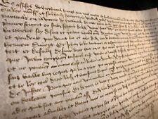 MEDIEVAL PARCHMENT 1471