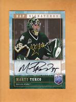 2006 07 BE A PLAYER AUTO # MT MARTY TURCO DALLAS STARS