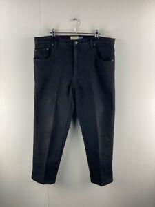 Riders Jeans Mens Black Flat Front 5 Pocket Design Casual Denim Jeans Size 97