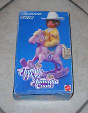 THE HEART FAMILY Cavallo a dondolo Rocking Horse La famiglia Cuore 1987 felice