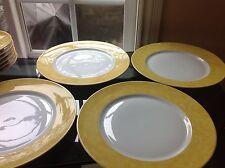 CH FIELD HAVILAND PARLON LIMOGES Yellow EDITE PAR Presentation Plate Set of 4
